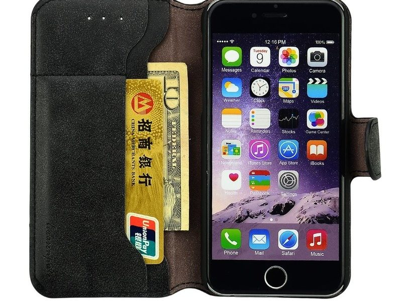 iPhone 6+/6s+ lompakkokuori, valittavana 3 eri väriä vain 9,95€ (ovh 19,25€) sis.toimituskulut