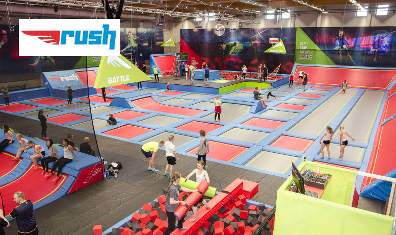 Pääsyliput kahdelle tai perhelippu Rush Helsinki-trampoliinipuistoon alk. vain 19€