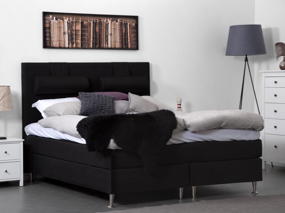 160cm musta FELICIA-jenkkisänky 750€ (ovh 1499€)