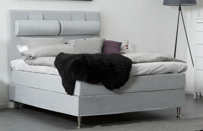 140 cm vaaleanharmaa FELICIA-jenkkisänky 630€ (ovh 1349€)