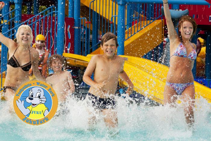 Kaksi lippua JukuPark-vesipuistoon 21€ (säästä 50%)