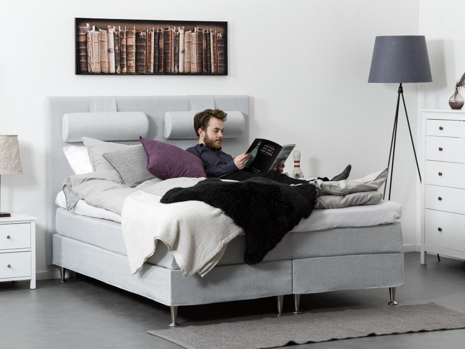 160cm vaaleanharmaa FELICIA-jenkkisänky 750€ (ovh 1499€)