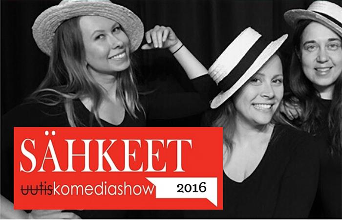 Sähkeet Uutiskomediashow 2016 -liput kahdelle vain 24€ (arvo 48€)