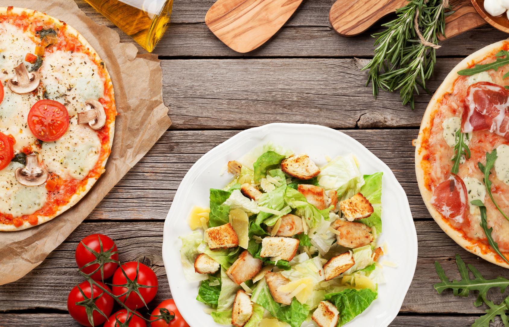 Vapaavalintaiset pizzat tai salaatit 1-3 henkilölle alk. vain 8€