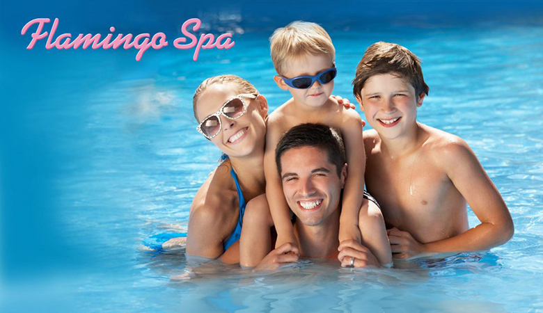 Flamingo Spa Vesipuisto -perhepaketti (sis. 2 aikuista ja 2 lasta) 32€ (arvo 68€)