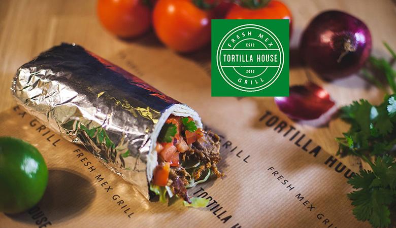 Vapaavalintainen burrito Tortilla Housesta 1-4:lle alk. vain 6€