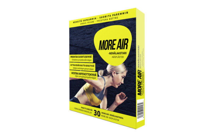 MORE AIR -nenälaastari 9,50€ (ovh 19€)