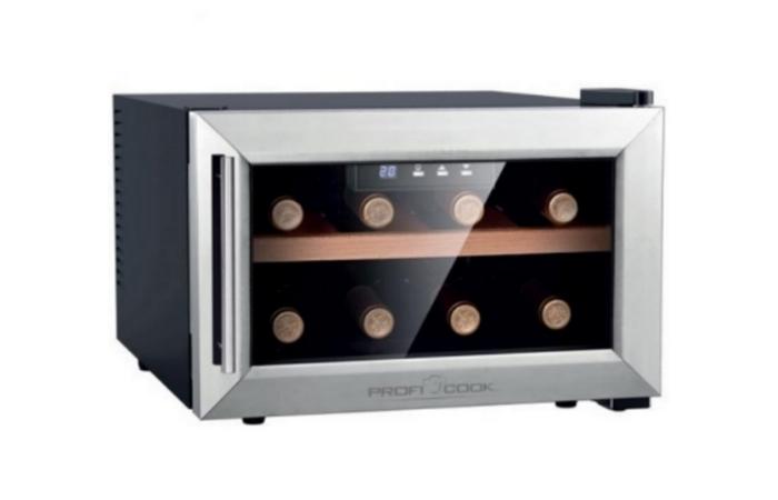 Profi Cook -viinikaappi 8 pullolle 199€ (ovh 299€)
