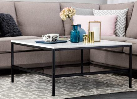 Mustavalkoinen SANDY-sohvapöytä 239€ (säästä 68%)