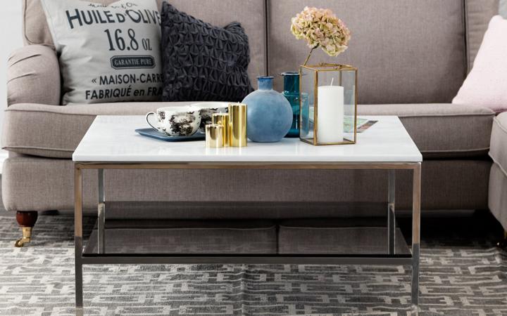 SANDY-sohvapöytä, teräs/valkoinen 239€ (säästä 68%)