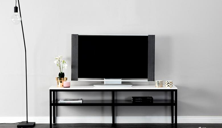 Mustavalkoinen SANDY-TV-taso 299€ (säästä 75%)