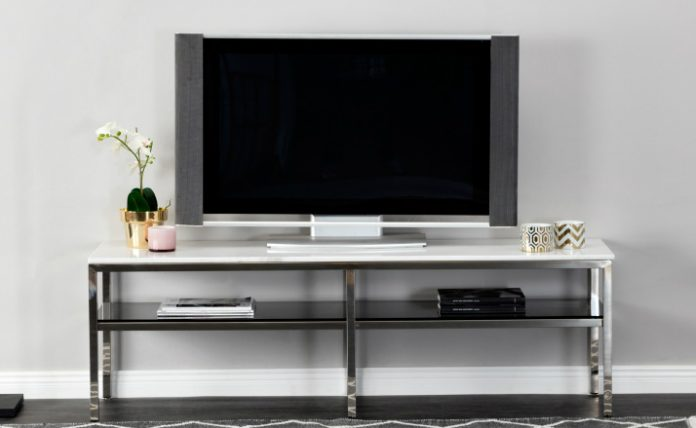 SANDY-TV-taso, teräs/valkoinen 299€ (säästä 75%)