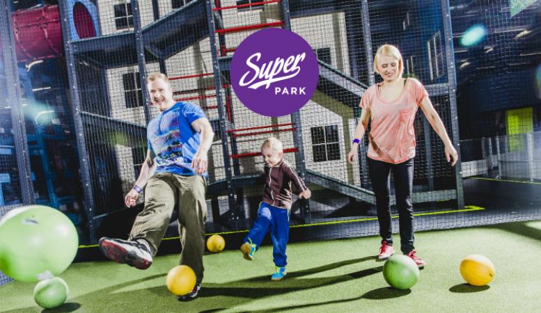 SuperPark Espoo – liput kahdelle tai neljälle vasta-avattuun sisäaktiviteettipuistoon alk. 25€