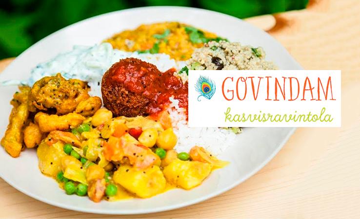 Kasvisravintola Govindam Kruununhaka – pääruoka alk. vain 7€
