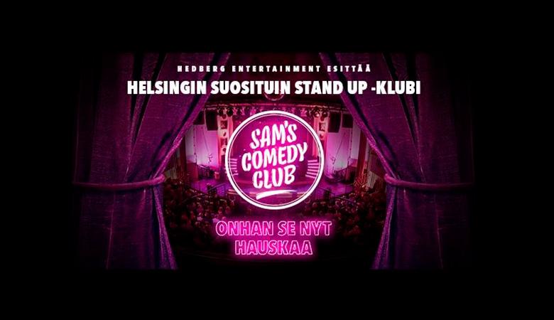 Kaksi lippua yhden hinnalla Sam's Comedy Clubin vappushow'hun 22,50€ (säästä 50%)
