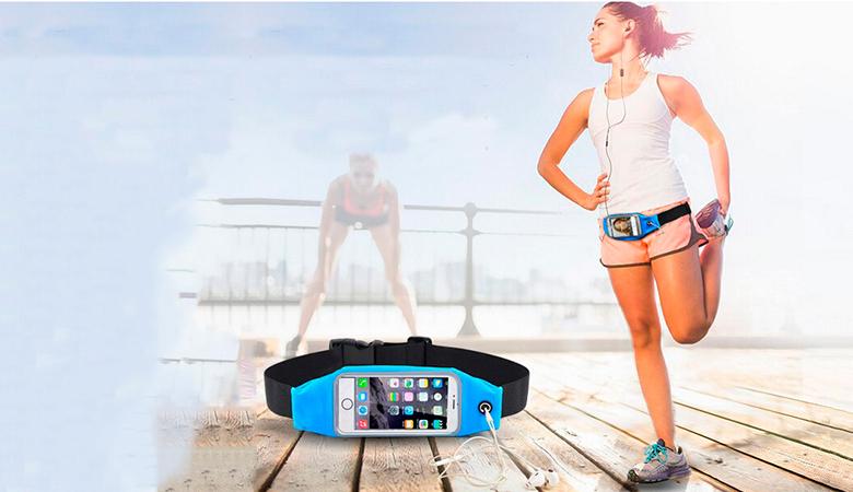 Juoksijan vyölaukku joustavalla vyöllä ja puhelintaskulla 9,90€ (säästä 50%)