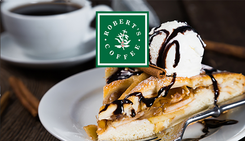 Robert's Coffee Oulu – kahvi ja iso omenakakkupala gourmetjäätelöllä 4,90€ (säästä 40%)