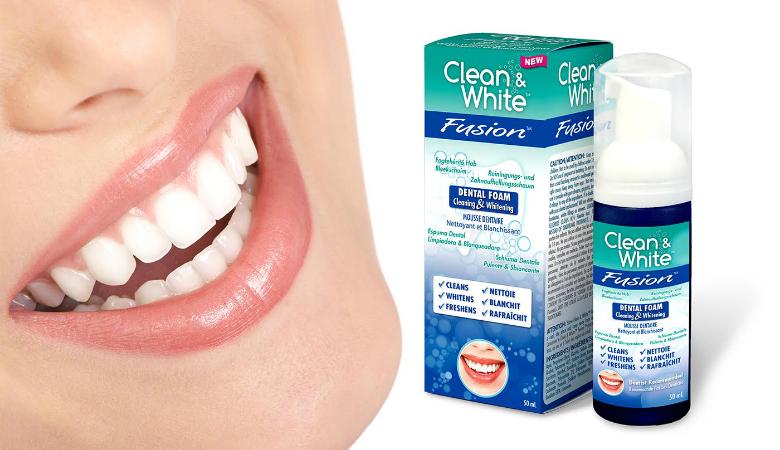 Clean & White Fusion -valkaisuvaahto hampaille 13,90€ (säästä jopa 64%)