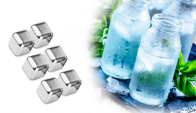 Steel Ice – uudelleen käytettävät jääpalat 21,90€ (säästä 56%)
