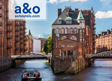 A&O Hotellit Hampuri – 2 tai 3 yötä kahdelle aikuiselle ja kahdelle lapselle alk. 99€ (säästä jopa 50%)