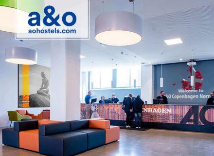 A&O Hotelli Kööpenhamina – 2-3 yötä kahdelle aikuiselle ja kahdelle lapselle alk. 125€