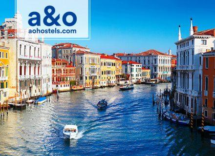 A&O Hotellit Venetsia – 1-3 yötä kahdelle aikuiselle ja kahdelle lapselle alk. 69€