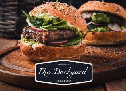 The Dockyard – valinnaiset hampurilaisannokset 2-4:lle alk. 21€ (säästä 45%)