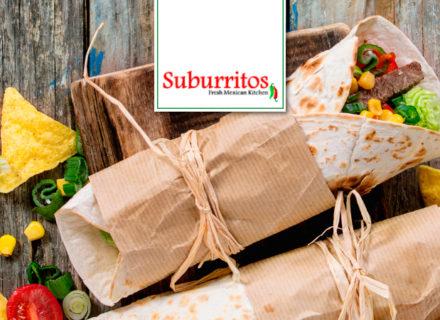 Suburritos – burritot ja nachot alk. 9,90€ (säästä jopa 45%)