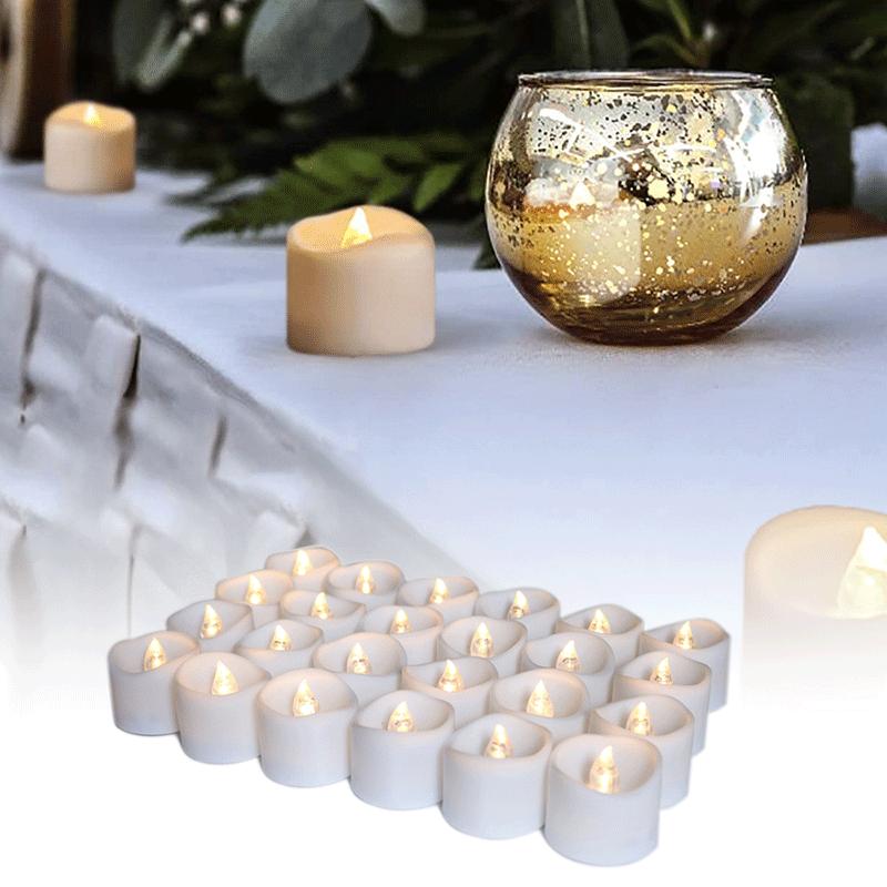 LED-kynttilöitä
